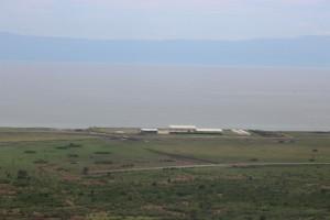 Petroleum installations on the shore of Lake Albert