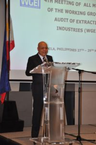 Commissioner of the Commission on Audit of the Philippines, Mr. Jose A. Fabia, welcomes the delegates