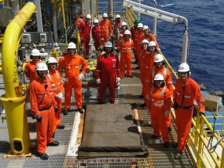 Figure 3 – technical visit to a offshore platform in Brazil