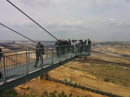 Participants at GIZ training visiting lignite mine in Hambach in Germany